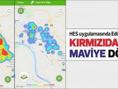 HES uygulamasında Edirne'nin rengi KIRMIZIDAN MAVİYE DÖNDÜ