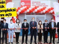 Edirne'nin en büyük spor kompleksi kapılarını açtı