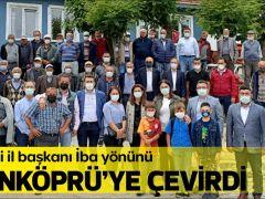 AK Parti il başkanı İba yönünü  UZUNKÖPRÜ'YE ÇEVİRDİ