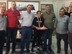Ziraat Odasından Türkiye şampiyonu Rümeysa'ya tebrik