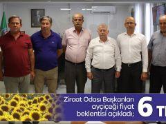 Ziraat Odası Başkanları ayçiçeği fiyat beklentisi açıkladı;  6 TL/Kg
